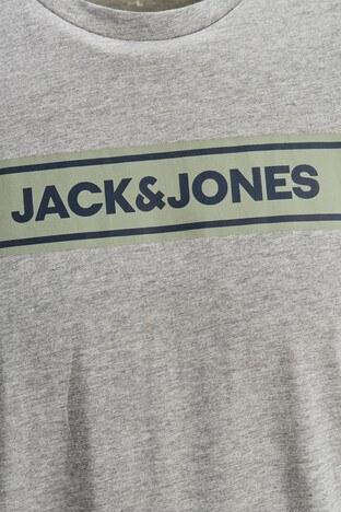 Jack & Jones Bisiklet Yaka % 100 Pamuk Originals Jorlondons Erkek T Shirt 12186702 AÇIK GRİ
