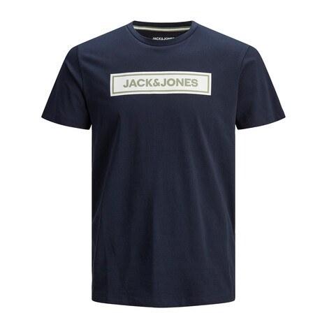 Jack & Jones - Jack & Jones Bisiklet Yaka % 100 Pamuk Originals Jorlondons Erkek T Shirt 12186702 LACİVERT