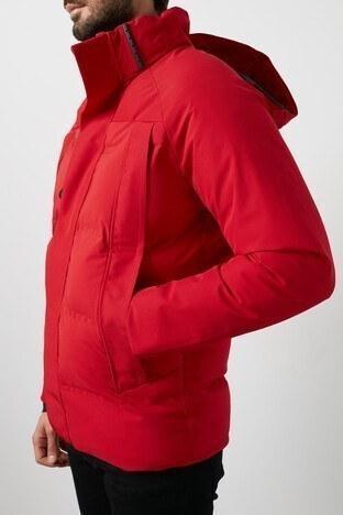 Jack & Jones Core Jcoalbert Suya Dayanıklı Kapüşonlu Erkek Mont 12175481 KIRMIZI
