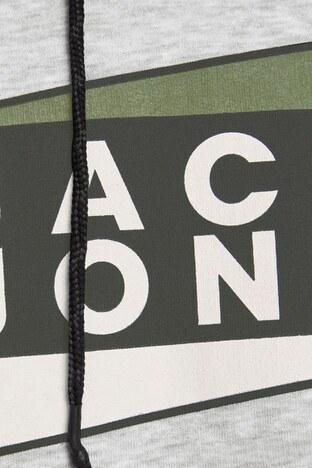 Jack & Jones Core Jcoanton Kapüşonlu Erkek Sweat 12177950 AÇIK GRİ