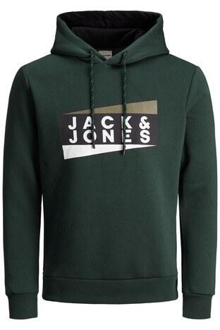 Jack & Jones Core Jcoanton Kapüşonlu Erkek Sweat 12177950 KOYU YEŞİL