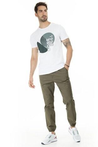 Jack & Jones Core Jcobooster Slim Fit Erkek T Shirt 12178389 BEYAZ