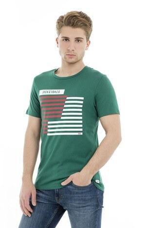 Jack & Jones Core Jcobooster Tee Erkek T Shirt 12149273 YEŞİL