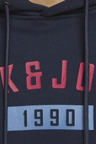 Jack & Jones Core Jcocarving Erkek Sweat 12162132 KOYU LACIVERT