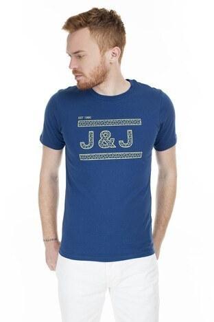Jack & Jones - Jack & Jones Core Jcocomplete Erkek T Shirt 12167303 LACİVERT