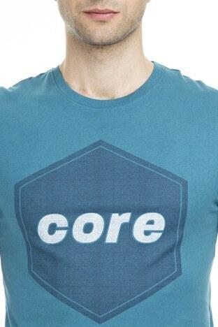 Jack & Jones Core Jcodustin Tee Sıfır Yaka Erkek T Shirt 12148559 PETROL