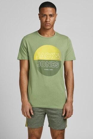 Jack & Jones - Jack & Jones Slim Fit % 100 Pamuk Core Jcofadıng Erkek T Shirt 12191978 YEŞİL