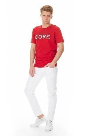 Jack & Jones Core Jcofoam Tee Erkek T Shirt 12140874 KIRMIZI