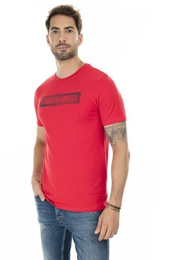 Jack & Jones Core Jcojannick Slim Fit Erkek T Shirt 12179374 KIRMIZI