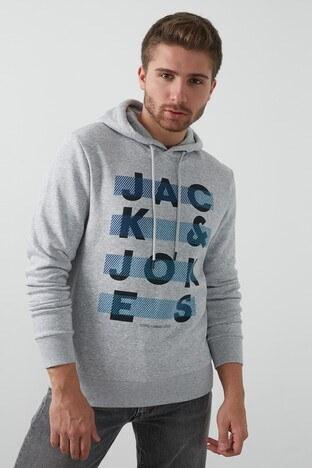 Jack & Jones - Jack & Jones Core Jcojumbo Erkek Sweat 12182887 AÇIK GRİ