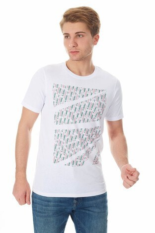 Jack & Jones - Jack & Jones Core Jcokings Erkek T Shirt 12148552 BEYAZ
