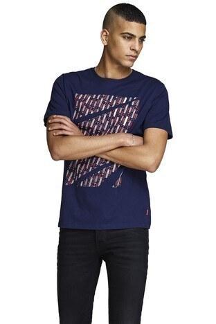 Jack & Jones - Jack & Jones Core Jcokings Erkek T Shirt 12148552 LACİVERT