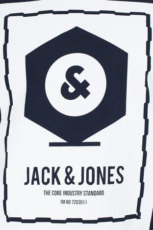 Jack & Jones Core Jcoknown Baskılı Erkek Sweat 12156248 LACİVERT