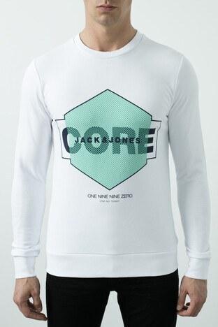 Jack & Jones Core Jcoperfect Erkek Sweat 12180200 BEYAZ