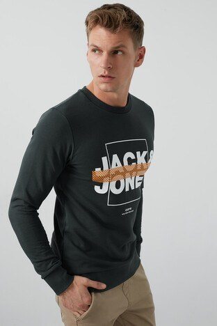 Jack & Jones Core Jcoperfect Erkek Sweat 12180200 KOYU YEŞİL