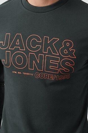 Jack & Jones Core Jcorain Pamuklu Bisiklet Yaka Slim Fit Erkek Sweat 12180201 KOYU YEŞİL