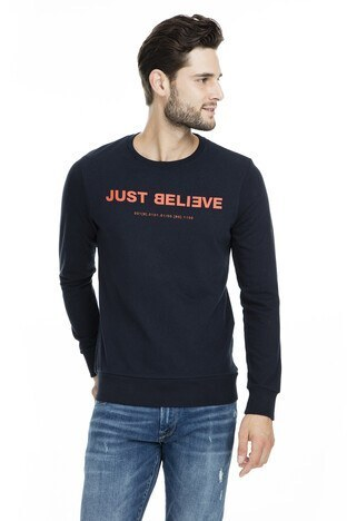 Jack & Jones - Jack & Jones Core Jcorainn Erkek Sweat 12167779 LACİVERT