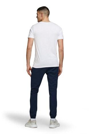 Jack & Jones Core Jcoshaun Bisiklet Yaka % 100 Pamuk Erkek T Shirt 12172246 BEYAZ