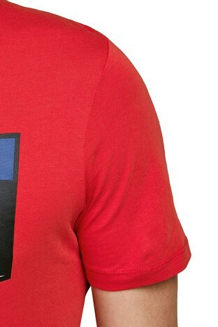 Jack & Jones Core Jcoshaun Bisiklet Yaka % 100 Pamuk Erkek T Shirt 12172246 KIRMIZI