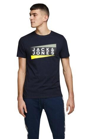 Jack & Jones Core Jcoshaun Bisiklet Yaka % 100 Pamuk Erkek T Shirt 12172246 KOYU LACIVERT