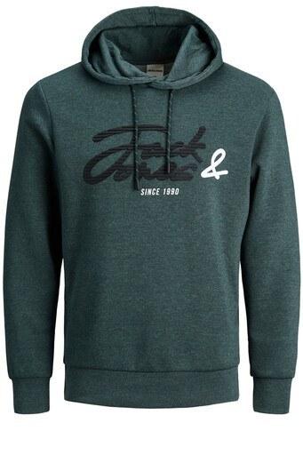 Jack & Jones Core Jcostone Baskılı Pamuklu Kapüşonlu Erkek Sweat 12175246 PETROL