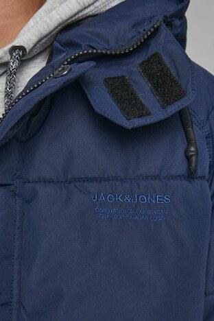 Jack & Jones Core Jcotrant Kapüşonlu Şişme Erkek Mont 12178729 LACİVERT