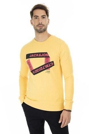 Jack & Jones - Jack & Jones Core Jcowrap Erkek Sweat 12180192 SARI