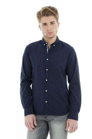 Jack & Jones - Jack & Jones Core Jcoyork Shirt Erkek Gömlek 12135700 LACİVERT