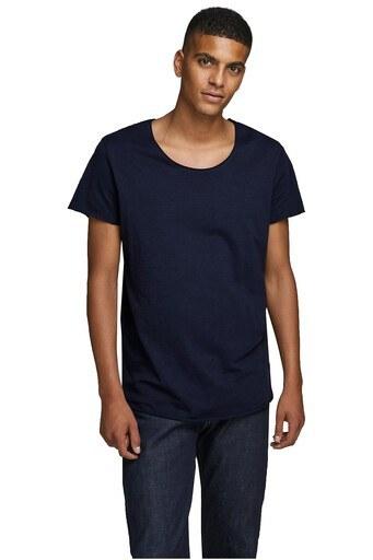 Jack & Jones Essentials Jjebas /LACİVERT/S Erkek T Shirt 12136679