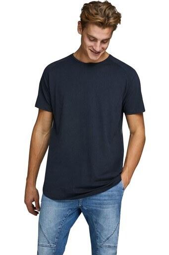 Jack & Jones Essentials Jjecurved Erkek T Shirt 12164936 LACİVERT