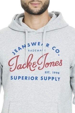 Jack & Jones Essentials Jjelogo Erkek Sweat 12157324 AÇIK GRİ