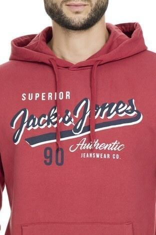 Jack & Jones Essentials Jjelogo Erkek Sweat 12157324 KIRMIZI