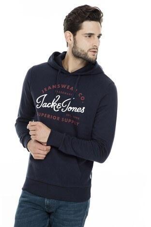 Jack & Jones Essentials Jjelogo Erkek Sweat 12157324 LACİVERT