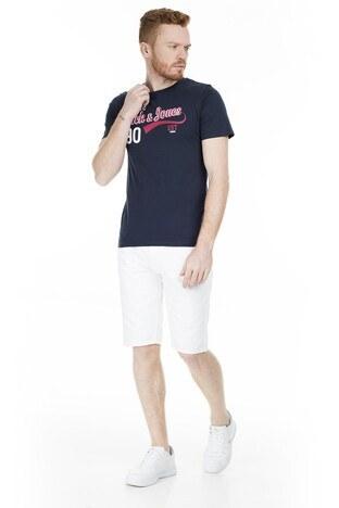 Jack & Jones Essentials Jjelogo Slim Fit Erkek T Shirt 12164848 LACİVERT