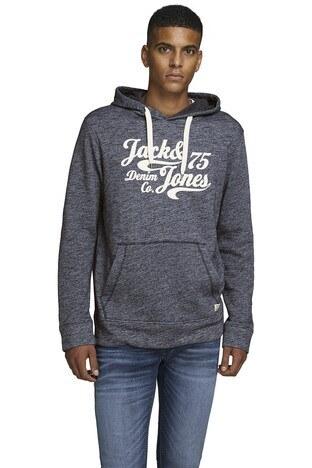 Jack & Jones - Jack & Jones Essentials Jjepanther Erkek Sweat 12141011 LACİVERT