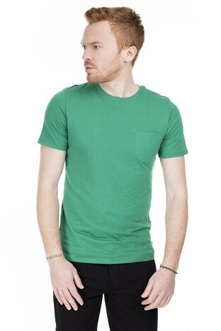 Jack & Jones Essentials Jjepocket /YEŞİL/S Erkek T Shirt 12136714