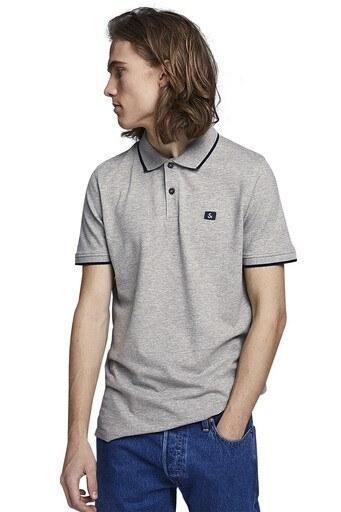 Jack & Jones Essentials Jjestone Polo Yaka Erkek T Shirt 12147114 AÇIK GRİ