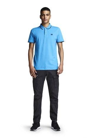 Jack & Jones Essentials Jjestone Polo Yaka Erkek T Shirt 12147114 TURKUAZ