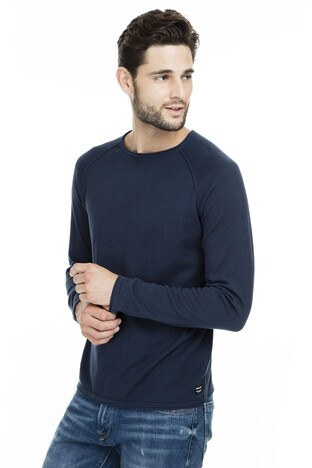Jack & Jones - Jack & Jones Essentials Jjeunion Erkek Kazak 12137172 LACİVERT