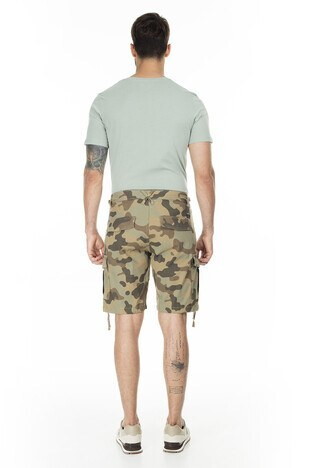 Jack & Jones Jeans Intelligence Jjıalfa Erkek Short 12169436 KAMUFLAJ