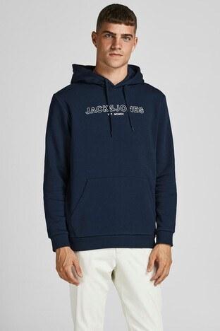 Jack & Jones - Jack & Jones Jjbank Erkek Sweat 12192093 LACÄ°VERT