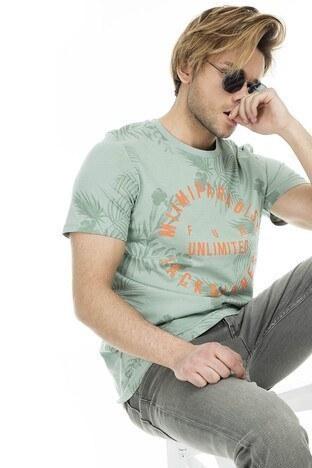 Jack & Jones - Jack & Jones Originals Jorfun Sıfır Yaka Erkek T Shirt 12147404 YEŞİL