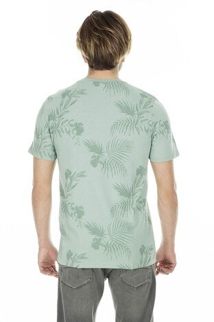 Jack & Jones Originals Jorfun Sıfır Yaka Erkek T Shirt 12147404 YEŞİL