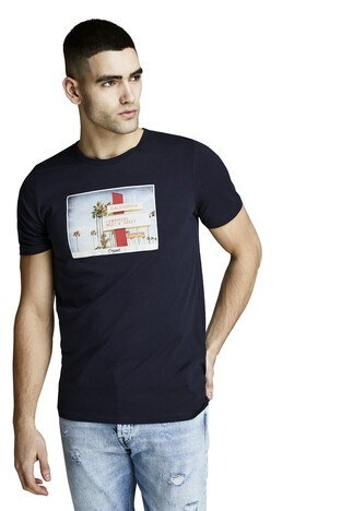 Jack & Jones Originals Jorhotel Sıfır Yaka Erkek T Shirt 12152660 LACİVERT