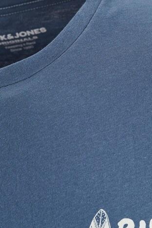 Jack & Jones Rahat Kesim % 100 Pamuk Originals Jorstreams Erkek T Shirt 12189576 İNDİGO