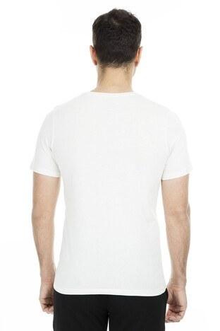 Jack & Jones Originals Jorzine Tee Sıfır Yaka Erkek T Shirt 12150349 KREM
