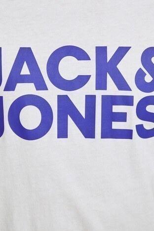 Jack&Jones Essentials Jjecorp Logo Tee Erkek T Shirt 12151955 BEYAZ