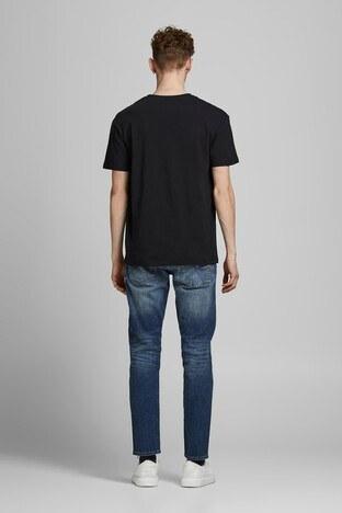 Jack & Jones Pamuklu Originals Jortrac Erkek T Shirt 12185197 KOYU LACIVERT