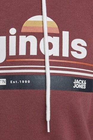 Jack & Jones Plus Jorwilmer Büyük Beden Erkek Sweat 12165102 KIRMIZI
