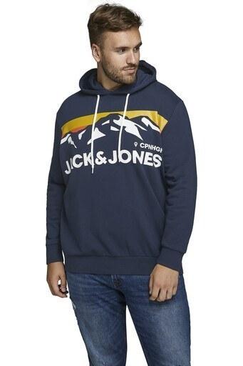 Jack & Jones Plus Jorwilmer Büyük Beden Erkek Sweat 12165102 KOYU LACIVERT